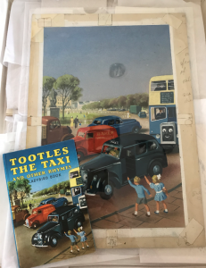 John Kenney's original cover art for Tootles the Taxi